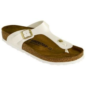 Birkenstock Gizeh White Patent Leather Size 35